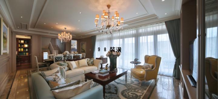 昆山复式楼美式风格大气效果图-案例-昆山98装潢网