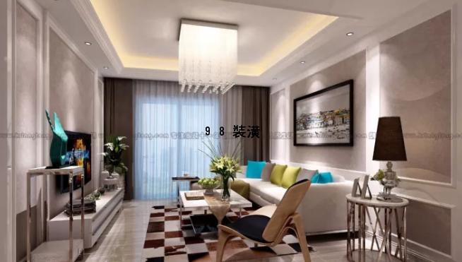 晋江现代风格效果图-案例-晋江98装潢网