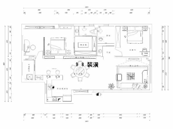 昆山中式风格装修效果图-案例-昆山98装潢网