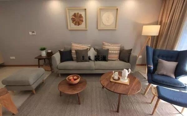 昆山90㎡三居室效果图-案例-昆山98装潢网