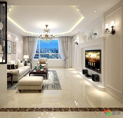 昆山中式室内设计效果图-案例-昆山98装潢网