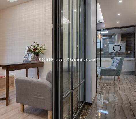 黄骅二室一厅小户型装修效果图-案例-黄骅98装潢网