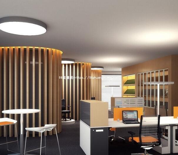 菏泽办公室装修设计效果图-案例-菏泽98装潢网