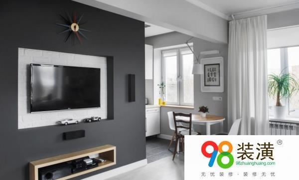 室内装潢黑白电视背景墙设计方法  设计要点
