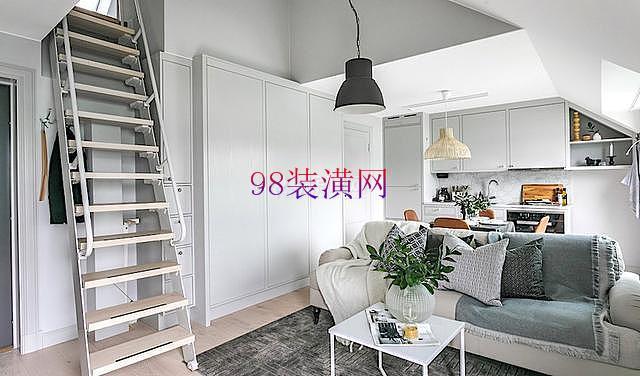 张家港43㎡阁楼装修设计 打造北欧风新家居生活
