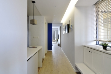 昆山110平米三居室现代简约装修效果图
