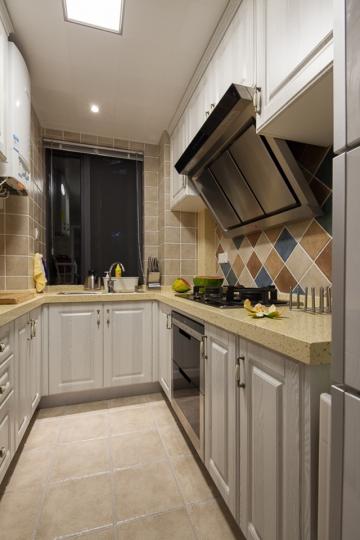 六盘水三室两厅美式混搭风格装修案例