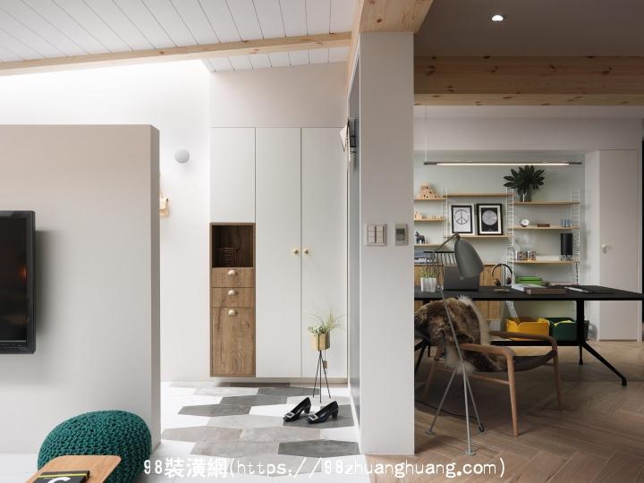黄骅北欧风格小公寓装修效果图效果图-案例-黄骅98装潢网