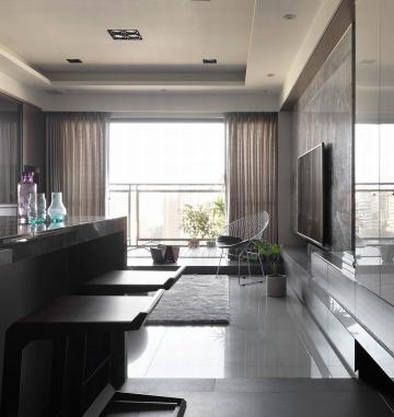 后现代风格三居室装修案例