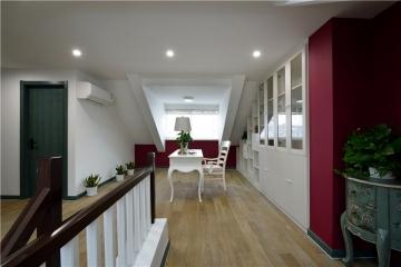 昆山168平米复式楼简美风格装修效果图