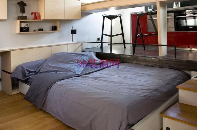 昆山锦溪14㎡单身公寓装修 脑洞大开的空间设计