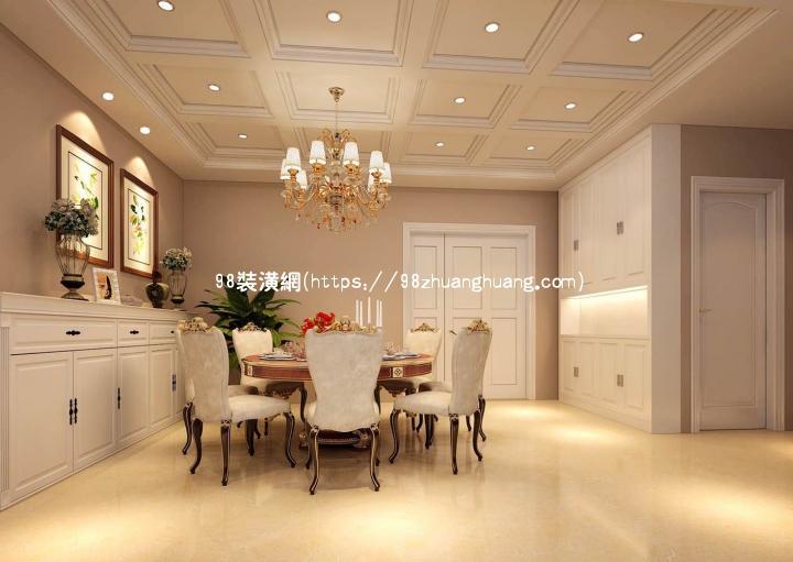 建德轻奢欧式别墅设计装修效果图-案例-建德98装潢网