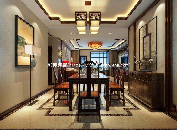 禹州中式室内设计效果图-案例-禹州98装潢网
