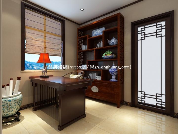 大连中式室内设计效果图-案例-大连98装潢网
