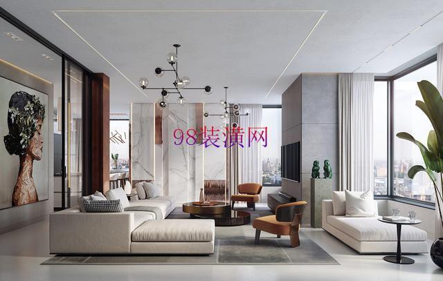 """昆山花桥现代明亮的公寓设计 """"猴""""元素让空间显得更加典雅"""