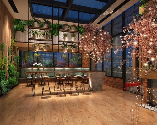 餐厅全景美食店