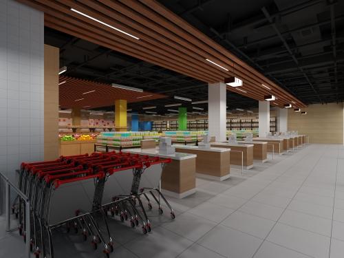 商场超市设计效果图